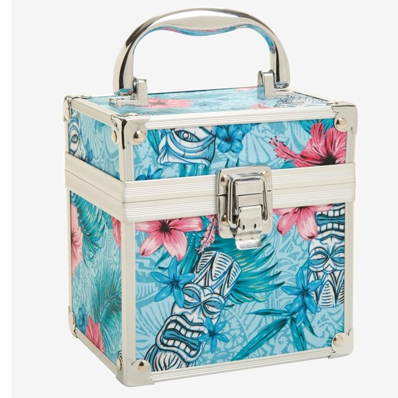 5666a86ca1d 🌺SALE🌺 New~ Tropical Floral Hard Case Makeup Bag